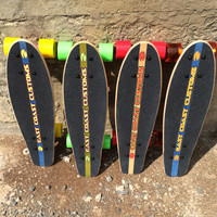 "Handmade Real Wood MINI's Skateboards  24""x7"" // Penny Trucks // KICKTAIL and Jessup Grip tape"