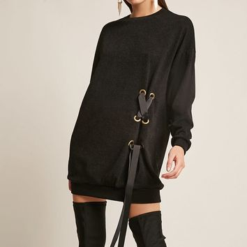 Oversized Lace-Up Dress