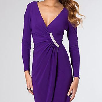Knee Length Long Sleeve Dress by Morgan