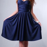 Convertible Bridesmaids wrap Dress Infinity evening maxi gown in Royal Blue Navy tube kimono
