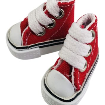 ANGELA Doll CONVERSE SNEAKERS SHOES red