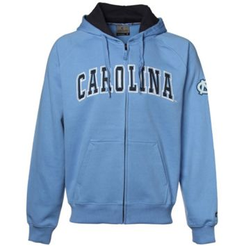 North Carolina Tar Heels :UNC: Automatic Full Zip Hoodie Sweatshirt - Carolina Blue