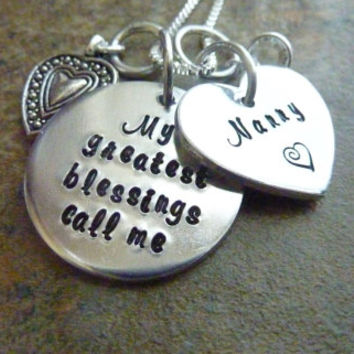 My greatest blessings call me Nana Necklace Personalized Necklace Grandma Mother Aunt Necklace