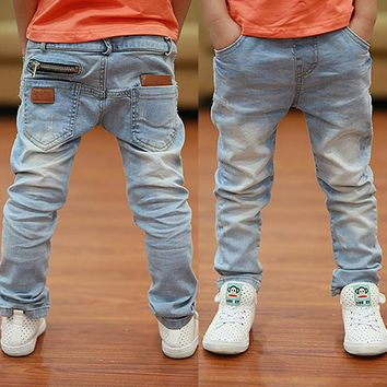 Newest style Light-color soft denim boys jeans 2018 Spring Autumn fashion for age 3 to 13 years old