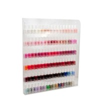Acrylic Nail Polish Wall Rack Organizer Holds up to 90 Bottles (Made in USA)