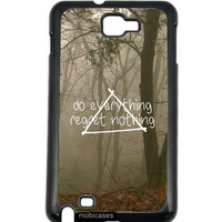 Hipster Quote - Do Everything Regret Nothing Misty Woods Samsung Galaxy Note 2 Note II N7100 Case - For Samsung Galaxy Note 2 Note II N7100