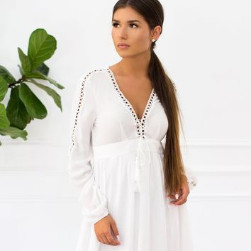 Haley Front Lace Up Swing Dress