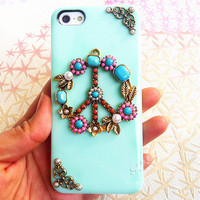 Handmade Peace Sign Phone Case For iPhone4/4s,iPhone5 from Summer Trip
