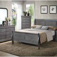 Louis Philippe Driftwood King Bedroom Set
