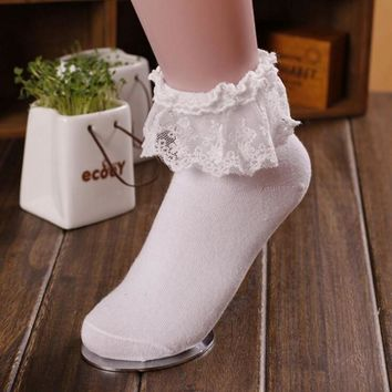 Japanese Vintage Colorful Fishnet Short Ankle Lace Socks Meias Lolita Women Flower Women Cute Calzini Socks For Girls Chaussette