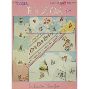 It's A Girl - Baby - Counted Cross Stitch Leaflet - Leisure Arts