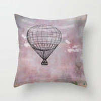 Air balloon Throw Pillow by LoRo  Art & Pictures