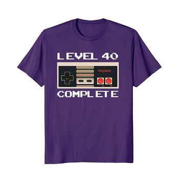 Level 40 Complete Funny 1978 40th Birthday Gift T-Shirt