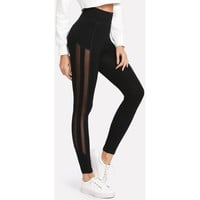 MESH PANEL LEGGINGS - 24HRS ONLY: SALE $12.98 FREE SHIPPING!