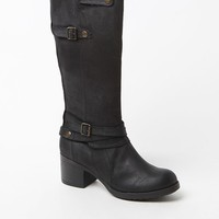Mia Sabato Faux Leather Riding Boots - Womens Boots