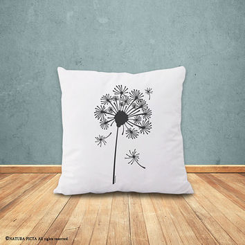 Dandelion pillow-dandelion seeds cushion cover-housewarming gift-decorative pillow-home decor-nursery pillow-pillow-by NATURA PICTA-NPCP057