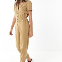 UO Lucy Collared Jumpsuit | Urban Outfitters