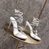 RENE CAOVILLA Women Fashion Casual Low Heeled Shoes Sandals Shoes-1