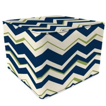 Sunbrella® Outdoor Square Pouf Ottoman in Tempest Navy