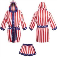Apollo Creed American Flag Robe Set | TheFlagShirt.com