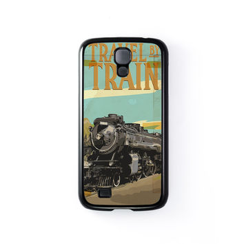 Travel By Train Black Hard Plastic Case for Samsung Galaxy S4 by Nick Greenaway