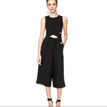 CREYU3C Summer overalls chiffon jumpsuits women's clothing in Europe and the sexy show hilum of tall waist jumpsuits women 1526263125