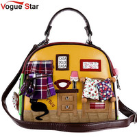 Vogue Star Women Boston Genuine Leather Handbag Retro Handmade Floral Embroidery Messenger Bags Bolsa Feminina bag YB40-378