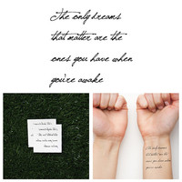 Realist - Temporary Tattoo (Set of 2)