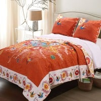 Bohemian Folk Art Gypsy Quilt Bed Set