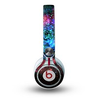 The Neon Colored Paint Universe Skin for the Beats by Dre Mixr Headphones