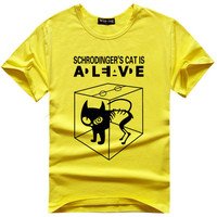 Schrodinger's cat is alive Big Bang Theory Sheldon Cooper Super Hero Tee t-shirt hwd