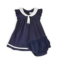Pumpkin Patch - dresses - sailor collar dress w knickers - S4BG80006 - eclipse - 0-3m to 18-24m