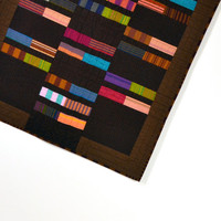 Brown Baby Quilt, Modern Baby Quilt, Wall Hanging, Geometric Baby Quilt, Gender Neutral Quilt