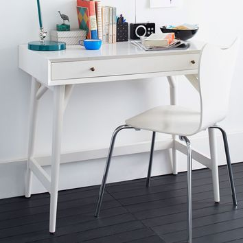 Penelope Mini Desk - Oyster w/ Marble Top