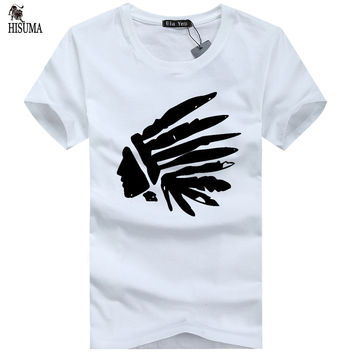 Men's Native American printed o-neck T-shirt