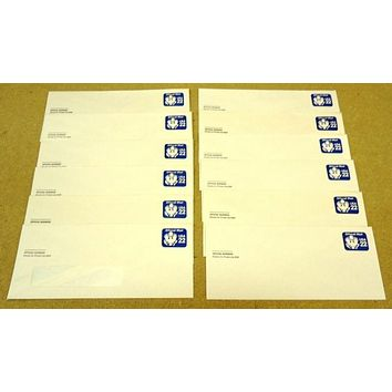USPS Scott UO74 22c Envelope Lot of 12 Official Business Mail Blue -- New