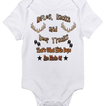 Baby Bodysuit - Rifles Racks and Deer Tracks