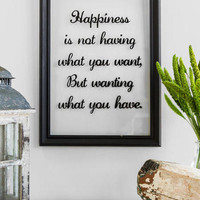 HAPPINESS GLASS 13 X 18 WALL DECOR