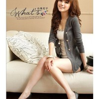 Dark Grey Apparel Women New Style Spring Slim Clothing Cotton Coat One Size @GP0001dg $12.57 only in eFexcity.com.