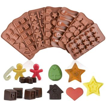 19 Shape 3D Silicone Numbers Fruit Chocolate Mold Candy Cookie Baking Mold Fondant Mold Cake Decoration Tools Kitchen Gadgets