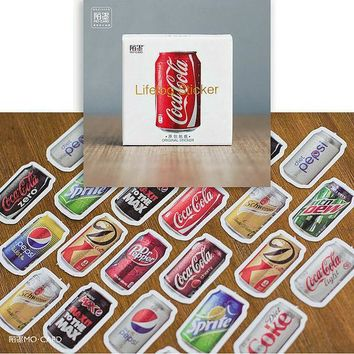 ICIK272 45pcs/pack Coke bookmarks Diary Stickers Pack Post it Planner Scrapbooking Sticky Stationery Escolar 2016 New School Supplies
