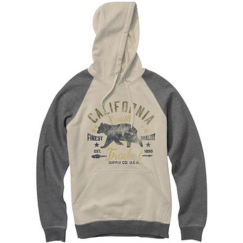 California Republic Finest Quality Raglan Hoodie