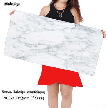 Mairuige  900*400*2mm Colorful White Marble Feature Characters Design Speed Control Gaming  Mouse Pad Computer Notebook Mice Mat