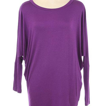 Violet Dolman Tunic Top