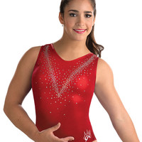 Aly Raisman Red Mystique Leotard from GK Elite
