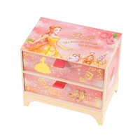 Belle Sticky Memo with Box Water Color Disney Store Japan Beauty and the Beast - VeryGoods.JP