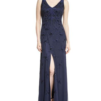 Aidan Mattox - 54473280 Embroidered Beaded Gown