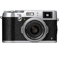 "Fujifilm X100T Digital Camera Silver, 16.3MP, Hybrid Viewfinder, 23mm F/2 Lens, 6 FPS, 3"" LKCD, Full HD 1080p Video"