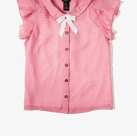 Checkered Bow Blouse (Kids)