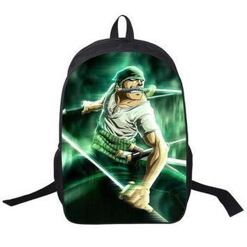 Japanese Anime Bag  One Piece Cosplay Kindergarten baby child 4-5-6 year old bag high capacity backpack child birthday gift AT_59_4